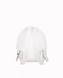 Zaino donna Ice Play bianco con cerniere e borchie