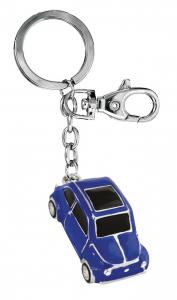 Portachiavi auto d'epoca blu cm.11,5x3,2x2,1h