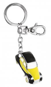 Portachiavi auto d'epoca giallo nera cm.11,5x3,2x1,8h