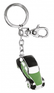 Portachiavi auto d'epoca verde nera cm.11,5x3,2x1,8h