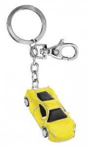 Portachiavi auto sportiva gialla cm.11,5x3,2x1h