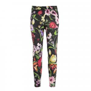 Pantalone floreale nero o bianco Nero Giardini