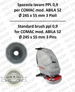 Strandard Wash Brush ppl 0,9 for Scrubber Dryer COMAC mod. ABILA 52 con 3 pioli