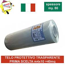 Telo protettivo trasparente professionale 4mx10 Made in Italy Soragni