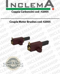 COPPIA di Carboncini Motore aspirazione per motori SYNCLEAN -  2 x Cod: 42005
