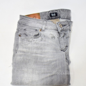 Pantalone Grigio D&G Grigio Donna Tg. 26-40