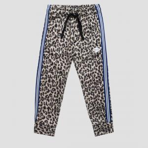 Pantalone maculato con bande blu e bianche