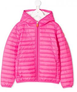 Giubbotto rosa fluo con cappuccio