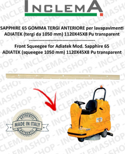 SAPPHIRE 65 GOMMA TERGI ANTERIORE per lavapavimenti ADIATEK (tergi da 1050 mm)