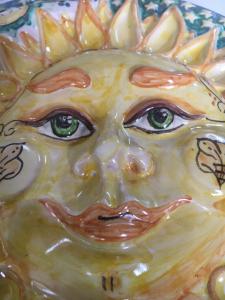 Sole luna ceramica di Caltagirone d25