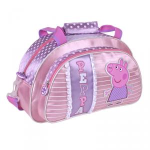 Borsa Borsone Peppa Pig Rosa e Lilla scuola asilo sport