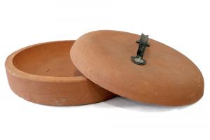 Testo in Terracotta con coperchio