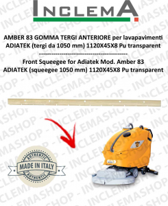 AMBER 83 Front Squeegee Rubber for Scrubber Dryer ADIATEK (squeegee da 1050 mm)