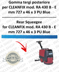 RA 430 B-E Back Squeegee Rubber for Scrubber Dryer  CLEANFIX