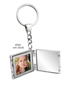 Portachiavi specchio e portafoto cm.11,5x4x0,7h