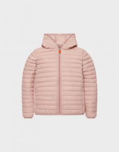 Giubbotto rosa chiaro con cappuccio