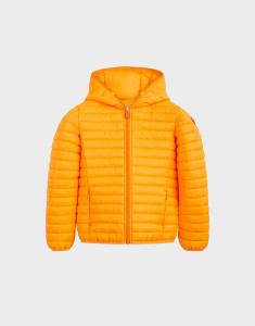 Giubbotto arancione con cappuccio