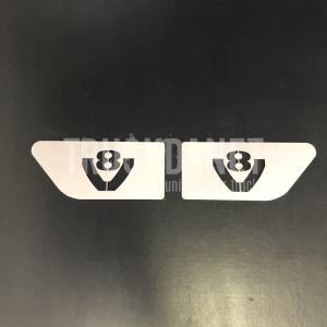 SCANIA Inserti laterali con scritta V8