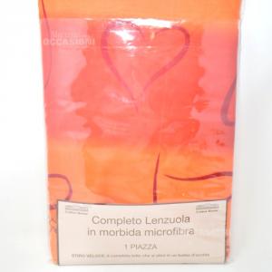 Completo Totale Lenzuola Microfibra 1 Piazza Letto