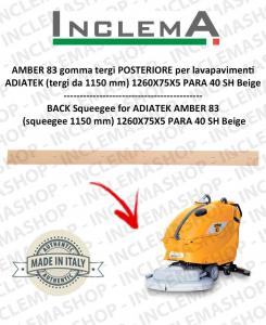 AMBER 83 GOMMA TERGI POSTERIORE per lavapavimenti ADIATEK (tergi da 1150 mm)