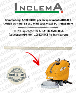 AMBER 66 gomma tergi ANTERIORE per lavapavimenti ADIATEK (tergi da 950 mm)