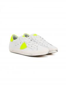 Scarpe bianche e gialle