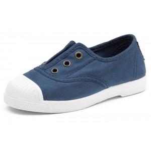 Scarpe blu senza lacci