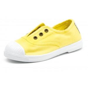 Scarpe gialle senza lacci