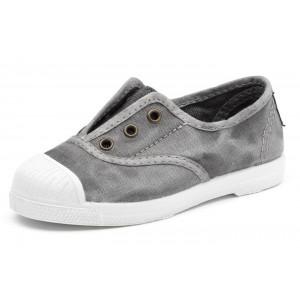 Scarpe grigie senza lacci