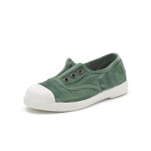 Scarpe verdi senza lacci