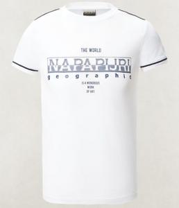 T-Shirt bianca con stampa logo grigio e dettagli neri
