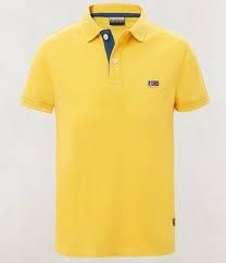 Polo gialla con logo