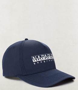 Cappello blu con stampa logo bianco