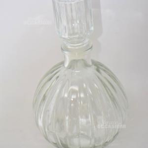 Bottiglia Con Tappo Vetro Rotonda