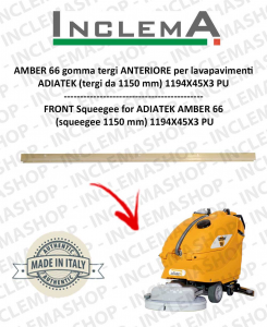 AMBER 66 goma de secado delantera para fregadora ADIATEK (tergi da 1150 mm)