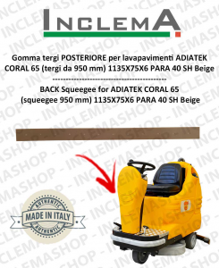 Gomma tergi POSTERIORE per lavapavimenti ADIATEK CORAL 65 (tergi da 950 mm)