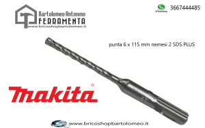 Punta Makita Performance SDS Plus nemesis2 6 x 115