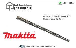 Punta Makita Performance SDS Plus nemesis2 10 X 215