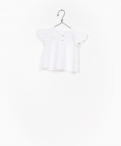 Camicia bianca con spalline volant