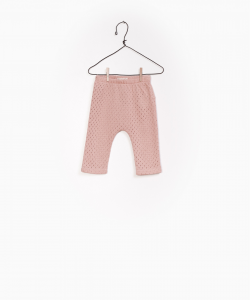 Pantalone rosa traforato