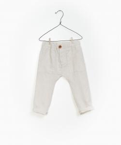 Pantalone sabbia con vita elasticizzata