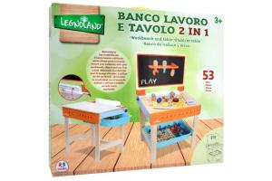 BANCO LAVORO E TAVOLO 2 IN 1 LEGNO 39064 GLOBO
