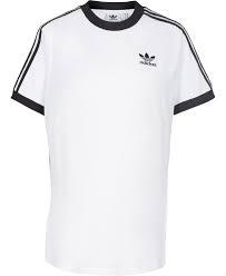 T SHIRT ADIDAS CON BANDE LOGO WHITE/BLACK DH3188