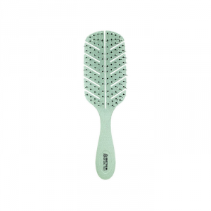 Beter Detangling Natural Fiber Hair Brush Green