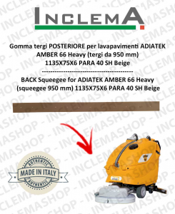 Back Squeegee Rubber for Scrubber Dryer ADIATEK AMBER 66 Heavy (squeegee da 950 mm)