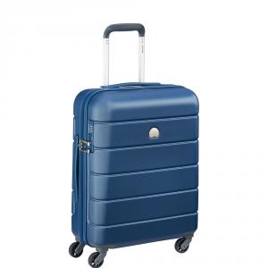 Delsey - Lagos  - Valigia trolley da cabina Ryanair 55 cm 4 ruote TSA rigido blu cod. 3870803