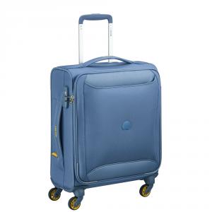 Delsey - Chartreuse - Valigia trolley da cabina Ryanair 4 ruote morbido 55 cm TSA azzurro cod. 3673803