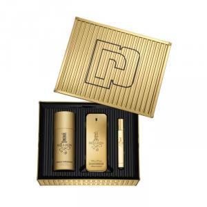 Paco Rabanne 1 Million Eau De Toilette Spray 100ml Set 3 Parti 2019