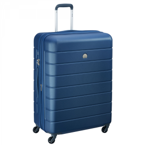 Delsey - Lagos - Valigia trolley grande 76 cm 4 ruote TSA rigido blu cod. 3870821
