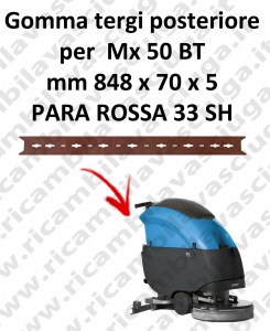 Gomma tergipavimento posteriore per lavapavimenti FIMAP Mx 50 BT
